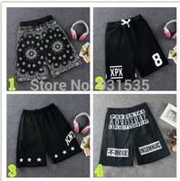 2014 Fashion Design Men Pyrex Shorts Hip Hop Hiphop Street Basketball Shorts Summer Personality Beach Shorts M/L/XL FREE SHIP
