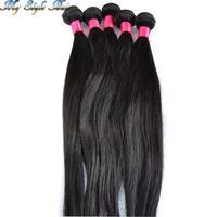 "cheap brazilian virgin hair straight 10pcs lot brazilian straight hair weave,10""-36'' hair extensions very soft,rosa queen hair"