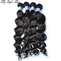 Mix length 4pcs/lot queen hair products malaysian virgin loose wave human hair extension 100g/bundles natural black,#1b,#2,#3,#4