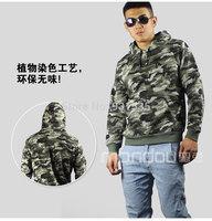 2014 Hot Designer Men's Hip Hop Streetwear Clothing Harajuku Man Brand Camouflage Hoody Autumn Sportwear Slim Fit Tops Free Ship