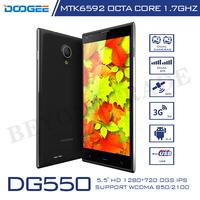 Original Doogee Brand DG550 MTK6592 Quad Core 1.7 GHz Octa Core Processor Smartphone 1GB RAM 16GB ROM 13MP Camera Cell Phones