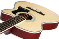thin body acoustic-electric beginner guitar 40inch good quality