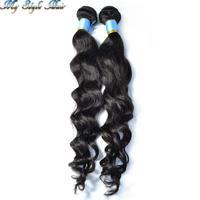 mxed sized 2pcs lot virgin malaysian loose wave unprocessed human hair bundles,mocha queen luffy luvin nala rosa hair products