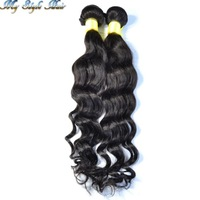 "Unprocessed virgin hair weave wavy,Virgin Peruvian human hair bundle loose wave,Queen hair extension.1pc/lot ,color 1b#,10-30"""