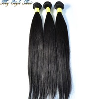 Virgin Peruvian Hair Straight Bundle,1 Piece Lot Unprocessed Human Hair Weave,10-36inches On Selling,Wholesale Price