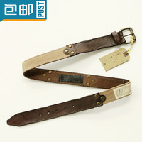 Brand first layer of leather men's belts do the old men Belt Buckle Canvas