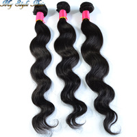 Queens hair products human hair bundles 3 pcs/Lot Brazilian Virgin Hair Body Wave, unprocessed brazilian virgin hair weaves