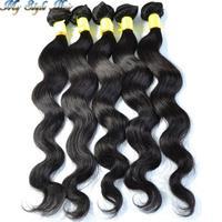 queen hair machine weft grade 4A peruvian virgin hair body wave natural color,mixed length 5 pcs/lot,unprocessed hair 100g/piece
