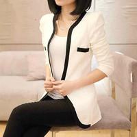 Women's coat Hitz small suit jacket female Korean Slim large size women leisure suit and long sections Jacket