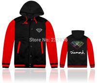 2014 Top brand diamond  jackets hooded long sleeve hip hop mens casual winter clothing fashion men sportswear Outerwear & Coats