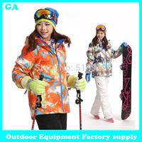 Dropshipping 2014 New women winter Jacket Coat Sport Suit Sportswear Windproof Waterproof Breathable outdoor sports jacket