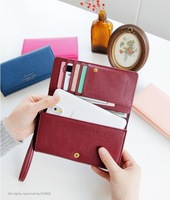 2014 New South Korean simple two compromise long section of a large capacity mobile phone bag wallet card package