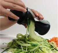 2014 New Vegetable Spiral Slicer Spirelli Kitchen Spiralizer Julienne Cutter Carrots As seen on TV  Free shipping