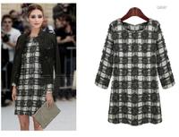2014 women plus size fashion fluid one-piece dress autumn loose straight casual dress
