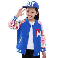 Children's clothing female child autumn 2014 child kids clothes baseball uniform child spring and autumn outerwear