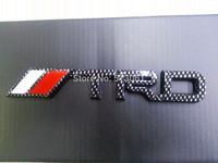 Free shipping (5pieces/lot)TRD Carbon Fiber 3D Badge Emblem Sticker emblem toyota