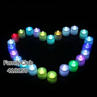 Multi Colors Flickering LED Tealight Tea Candles Light Xmas Courtship Wedding Party Birthday