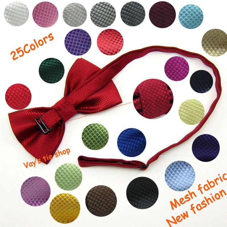 Мужские Pajaritas матовый жаккард шотландка сетка сплошной галстук-бабочка свадьба смокинг бант галстук черный 12 * 6 см