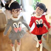 Children's clothing female child autumn 2014 2 3 4 - - - 5 baby casual kids clothes child set