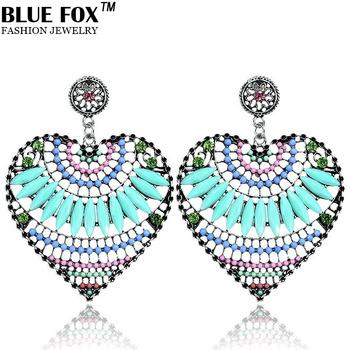 2014 последней моде серьги ювелирные изделия чехии сердце сплава кулон больших bf-e008 серьги для женщин