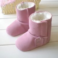 New Winter warm unisex  Genuine Leather boots brand baby shoes baby perwalker shoes first walkers infant Cotton-padded