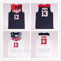 Wholesale Cheap #13 James Harden USA Jersey 2014 Blue White Mens Stitched Basketball Jerseys size S M L XL XXL XXXL