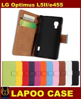 High Quality  Wallet Leather Case For LG Optimus L5II,Stand  With Card Holder Case For LG L5 II Free Shipping