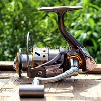 2014 New Gapless Spinning Fishing Reel DK2000 13BB CNC Full Metal Rocker Saltwater Gear 5.2:1 Pesca Free Shipping