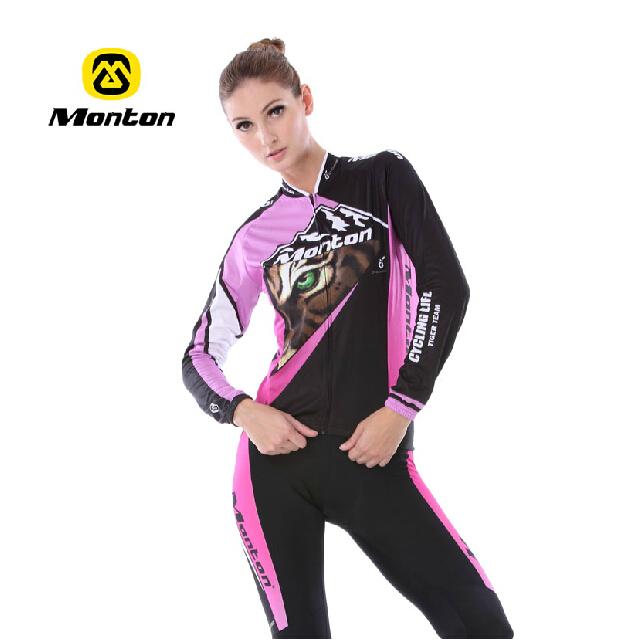 o cavaleiro do monton versão do inverno da senhora ciclismo desgaste de mangas terno equipamentos beautiful bicicleta senhora equitação terno ms.(China (Mainland))