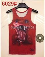 2014 Europe style 3D lovely summer  slim sleeveless shirt tanks tops snake style