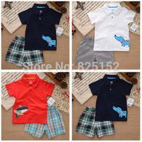 2pcs Carter Brand,new 2015,summer,Cotton clothing set,newborn,baby boy clothes,baby wear,kids clothes sets,t-shirt+pants suit
