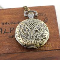 10pcs/lot harry potter Pocket Watch Owlr Watch man's gift