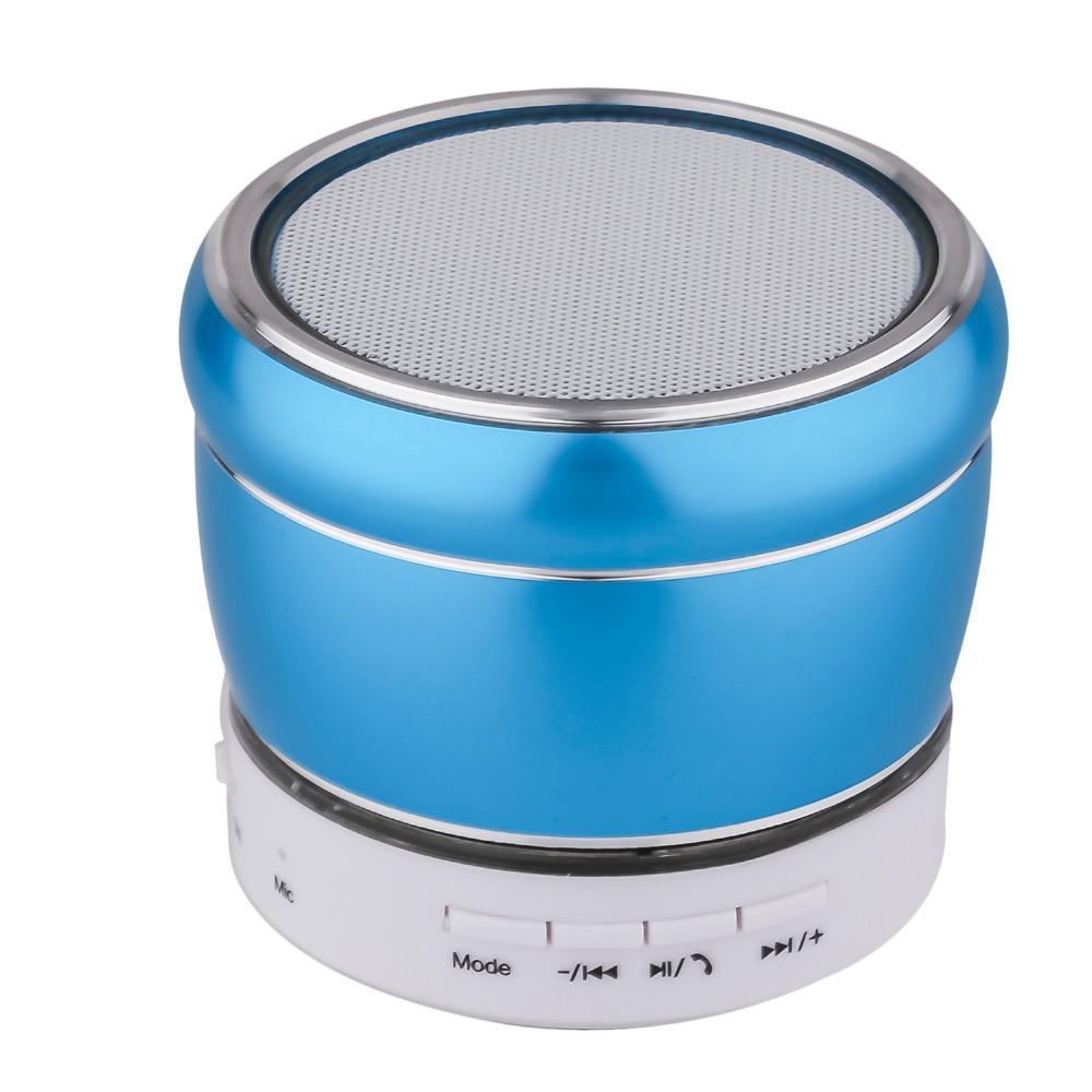 Mini wireless Portable Bluetooth V3.0 Stereo MP3 FM Speaker w/ TF / Mini USB with LED flashing - blue sound box(China (Mainland))