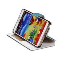 For Samsung galaxy Note3 III N9000 wax PU smart window case protector