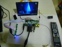 HDMI+2AV+VGA+Rear View Driver Board+7inch N070ICG - LD1+audio input+USB function 1280*800 IPS LCD Display