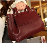 2014 new fashion retro portable shoulder diagonal package,black ,red ,brown 3034