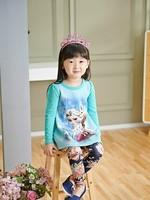 2014 new fall children clothing  Long-sleeved T-shirt + Leggings Set 5pcs/lot