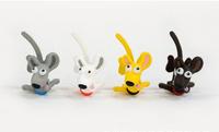 Wholesale high quality resin cartoon The Big eyes long tail dog dust plug
