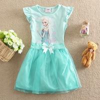 new  2014 Romance Frozen summer dress ELSA ANNA dress princess dress free shipping