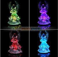 Reading Angel Style Round Base LED Crystal Christmas Light SHD-1092