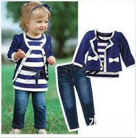 High-grade 2014 han edition dress female baby spring 1, 2 4 (coat + + jeans t-shirts) children suit baby clothes autumn outfit