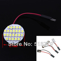 Free Shipping LEDs rotundity Dome Light 24 3528 SMD Car LED Light Bulb Lamp interior 2014 new Auto Interior Packing Car Styling