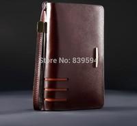 Men's leather handbag large-capacity clutch handbag really belt wrist band