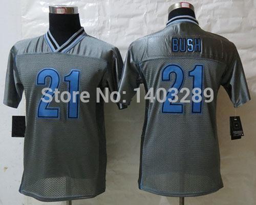 NO TAX Stitched youth 21 Reggie Bush Jersey Grey Vapor jersey arrive to door free shipping drop shipping no tax mix order(China (Mainland))