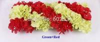 2014-new hydrangea floral arrangements row silk wedding flowers wedding route guide corners pavilion flower wedding props