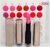 FREE SHIPPING!new high quality lipstick 12 COLORS (12pcs/lot)