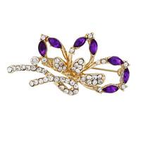 2014 New Elegant Korea Rhinestones Acrylic Purple Butterfly BRIDE Women Brooches Pins,Wedding dress Pins Mix.$10 Free shipping,