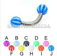 Free Shipping! UV acrylic lip ring labret with beach ball uv Body Jewelry