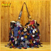 European&American Style Star Fashion Tassels Bags Purses And Handbags Women Famous Brand Fringe Snake Pattern Totes K302