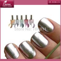 Fast Shipping 100 bottles Mirror effect Nail Polish thick nail polish 10 ml with Chromed nail caps